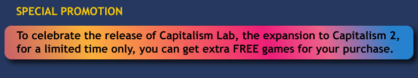 Get extra free games when you purchase Capitalism Lab